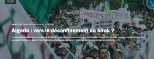 Crisis Group / Algérie : Vers le déconfinement du Hirak